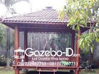Gazebo Glugu Kayu Pohon Kelapa Bisa Jadi Pilihan Anda