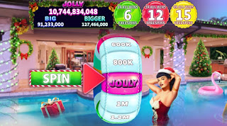 Bettie Page Holiday Splash Having A Ball screenshot at Hit It Rich! Slots