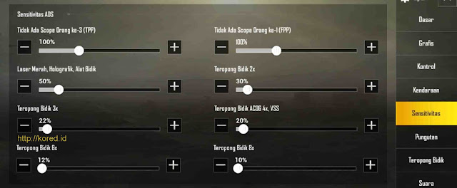 Setting Sensitivitas Terbaik Pro Player Pubg Mobile
