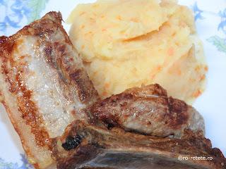 Piept de porc la gratar cu piure de legume reteta de casa Craciun retete culinare mancare grill friptura gratare carne,