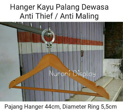 hanger kayu anti theft