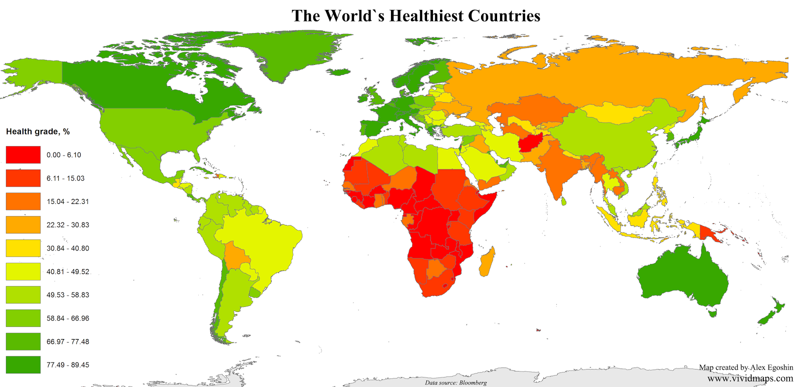 The World's healthiest countries