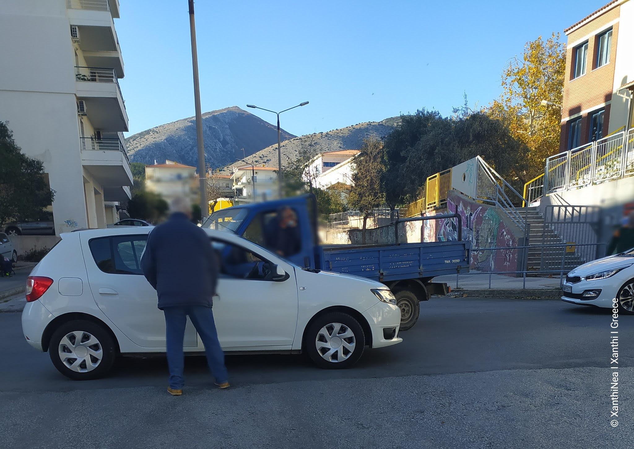 Τροχαίο ατύχημα στην Ξάνθη - Τράκαραν 2 αυτοκίνητα