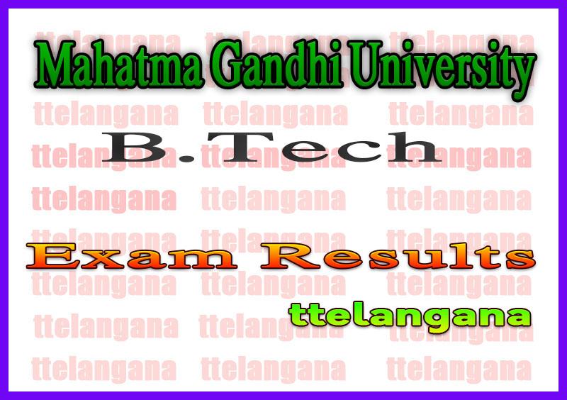 Mahatma Gandhi University B.Tech Supply Exam Results