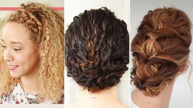 3 penteados com trança para cabelos cacheados - Inspiração Pinterest