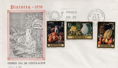 Sobre PDC de la serie Pintores dedicado a Luis Eugenio Menéndez en 1976