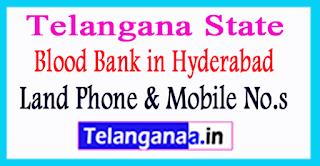 Blood Bank in Hyderabad Telangana State