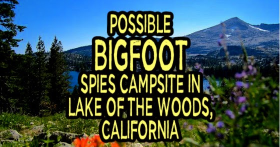 Possible Bigfoot Spies Campsite in Lake of the Woods, California