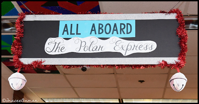 Polar Express sign in hallway