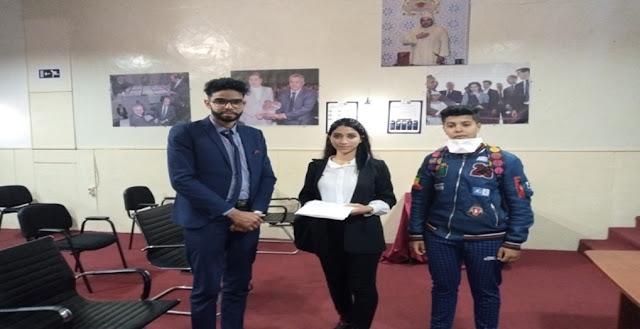 صورة مع الأستاذ أيوب زايد عضو بمكتب الإتلاف المغربي من أجل