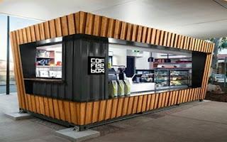 10+ Contoh desain cafe container unik dan minimalis
