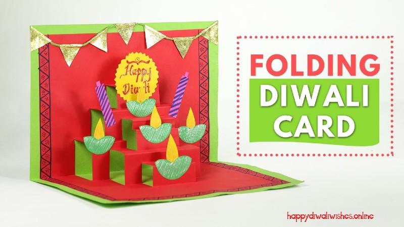 folding diwali greeting card