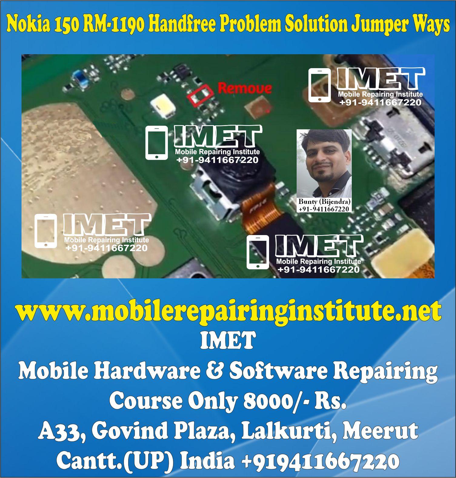 Nokia 150 RM-1190 Handfree Problem Solution Jumper Ways