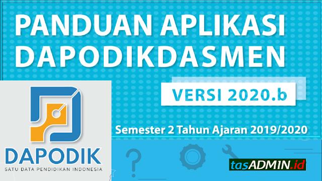 update dapodik semester 2 2019/2020 versi 2020b