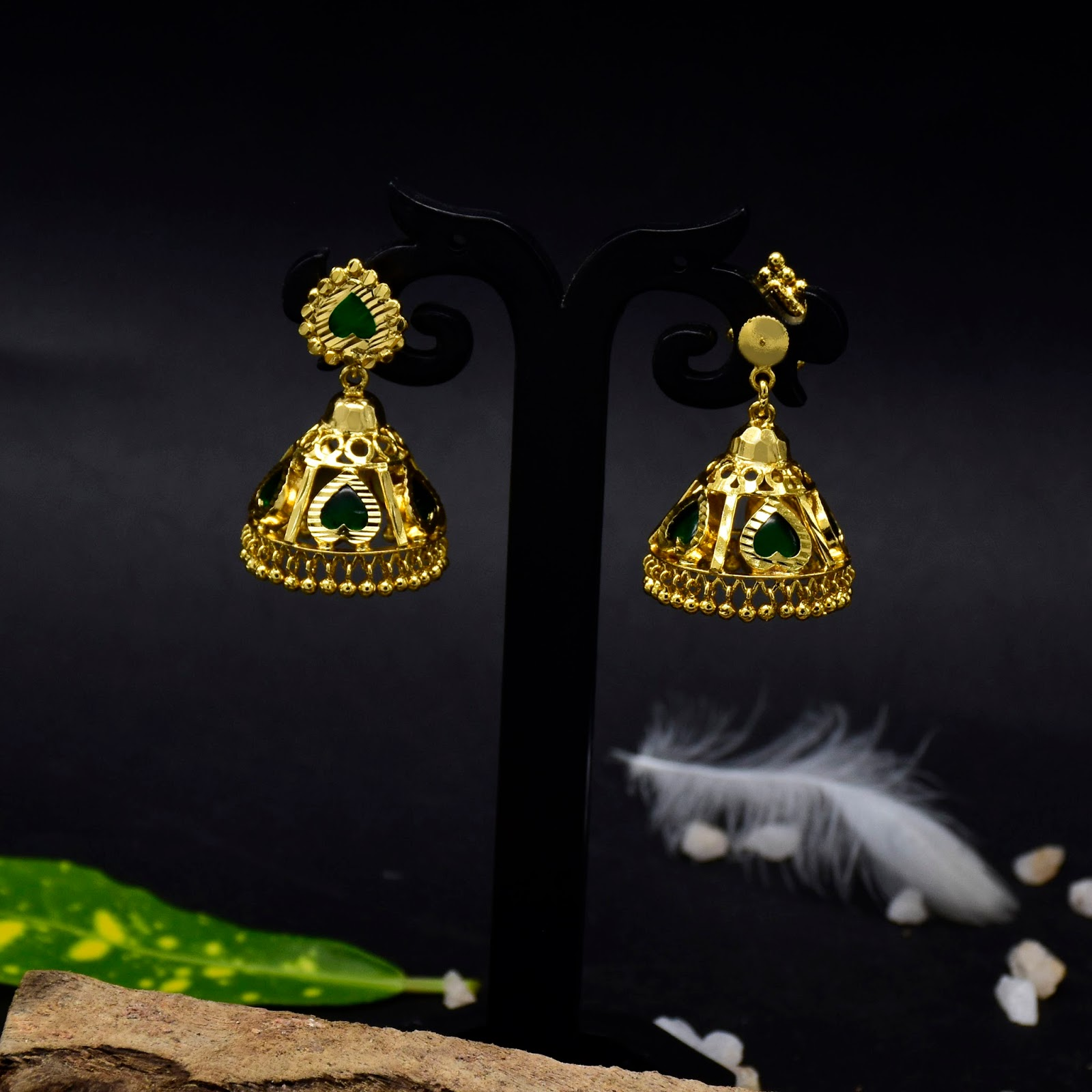 Buy Kerala Traditional Heart Jhumka Earring line Kollam Supreme