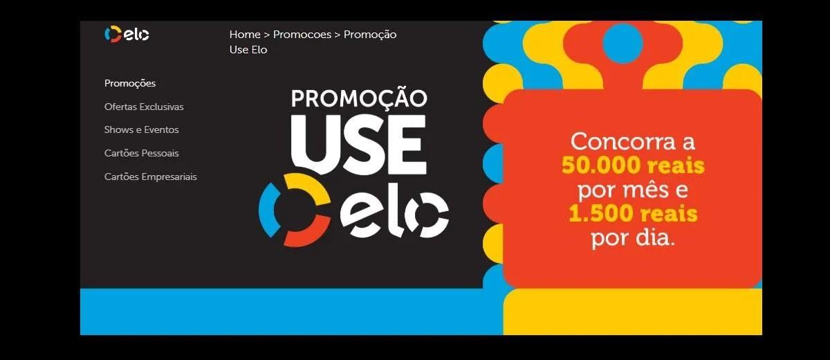 Promoção Use Elo 2020 Prêmios 50 Mil Por Mês e 1.500 Reais Por Dia - Cadastrar Cartão