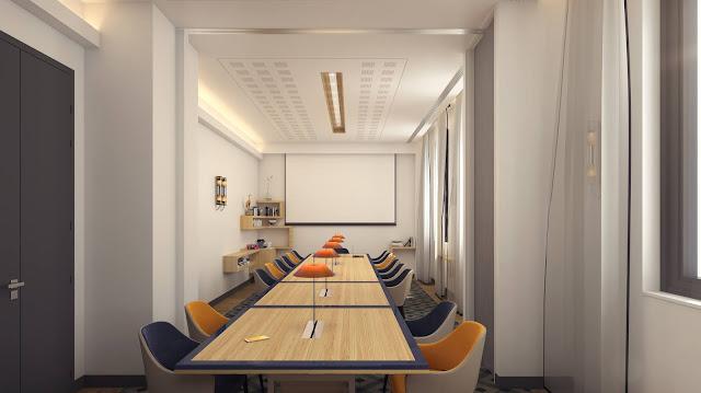 Image de décoration d'intérieur 3D - salle de réunion