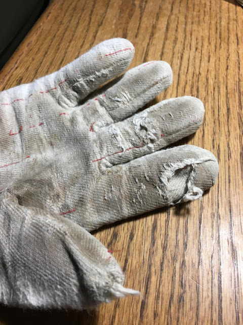 white ox protection gloves
