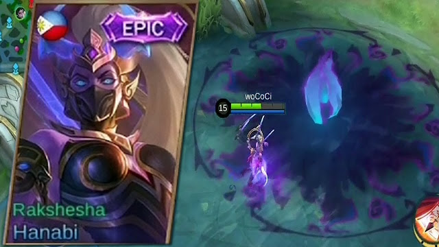 Skin Epic Hanabi Rakshesha Mobile Legends