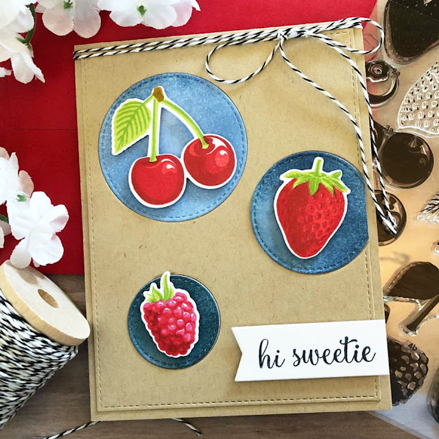 Sunny Studio Stamps: Berry Bliss Customer Card by Dana Kirby