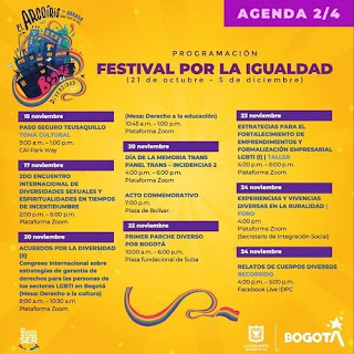 FESTIVAL POR LA IGUALDAD 2020 Agenda 2