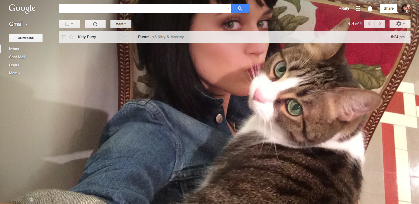 make your selfie your gmail theme