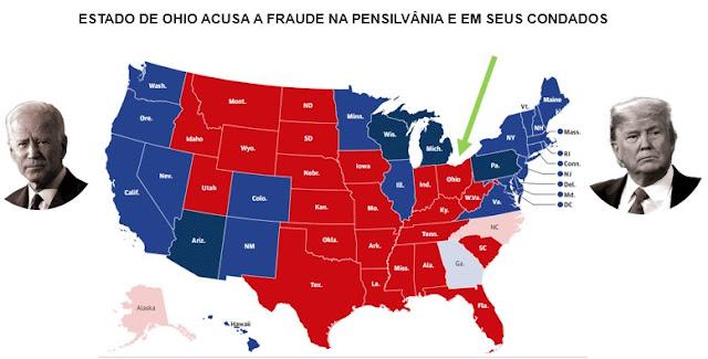 EXCLUSIVO!! O Estado de Ohio acusa a fraude na Pensilvânia e em seus condados perante à Suprema Corte Americana