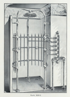 shower with dozen of jets at all levels around the body