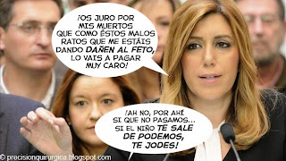 Viñeta Humor Investidura Susana Díaz por Paco Herrera