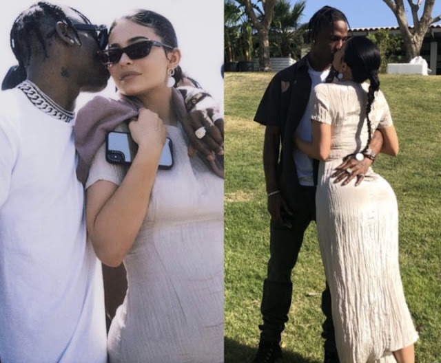 Kylie Jenner and Travis Scott loved up at Kanye's church service