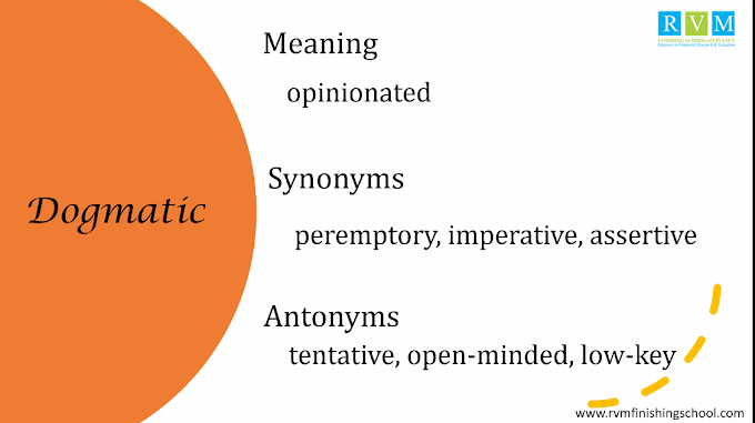 """Word Of The Day """"Dogmatic"""""""