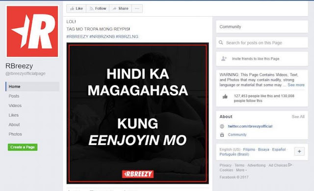 The RBreezy Facebook Page Suffers Backlash From Netizens After Posting a Rape Joke.