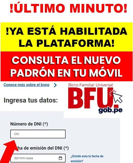 ATENCIÓN: Activan PLATAFORMA Del Nuevo BONO DEL GOBIERNO De S/600