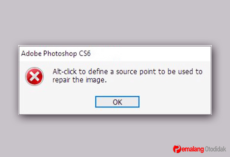 Alt-click to define a source point to be used to repair the image