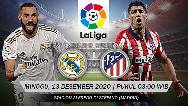 Prediksi Real Madrid Vs Atletico Madrid, Minggu 13 Desember 2020 Pukul 03.00 WIB