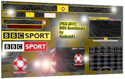 PES 2017 UK BBC Scoreboard by Radeqq81