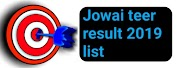 Juwai teer previous result 2019 list Juwai teer Counter