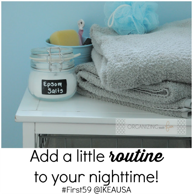 Add a little ROUTINE to your nighttime! #First59 @IKEAUSA