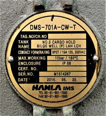 LEVEL SWITCH HANLA DMS-701A-CW-T (DMS 701A CW T)