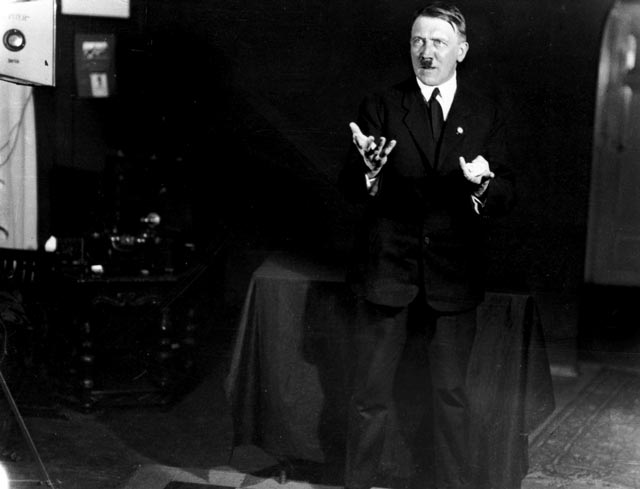 Adolf Hitler poses photographed by Heinrich Hoffmann worldwartwo.filminspector.com