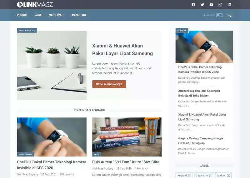Cara Menampilkan Kolom Komentar pada Label Jasa dan Bisnis Template LinkMagz
