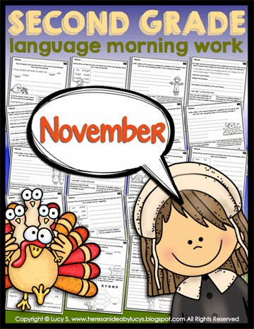 Second Grade Language Morning Work: November