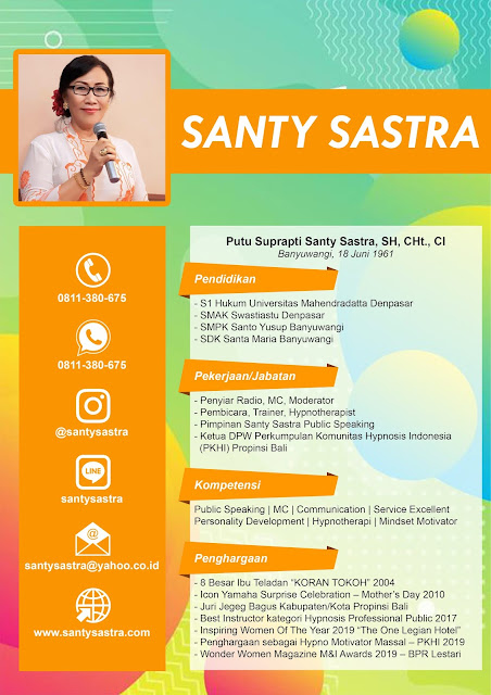 Profil Santy Sastra - Santy Sastra Public Speaking