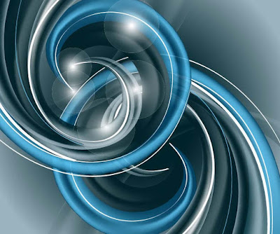 Abstract-Blue-Helix-Vector-Background