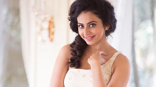 Beautiful Rakul Preet Singh Photo in White Clothes with cute smile