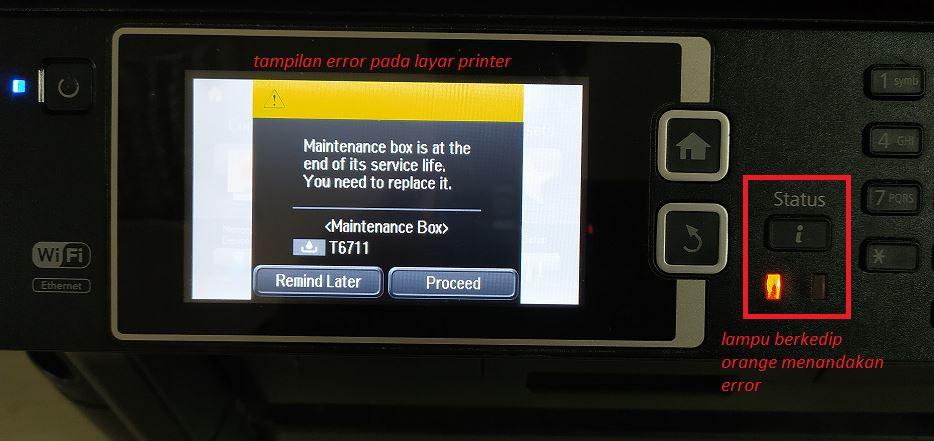 Cara Reset Maintenance Box Printer Epson L1455 Ketutrare