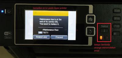 Cara Reset Maintenance Box Printer Epson L1455