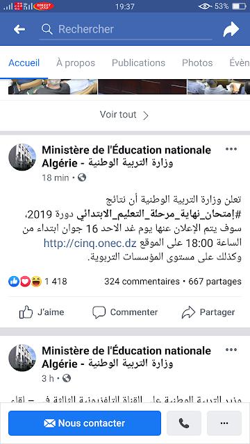 نتائج شهادة التعليم الابتدائي حسب رقم التسجيل 2019