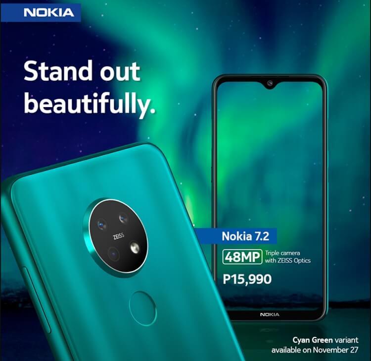 Nokia 7.2 in Cyan Green Announced