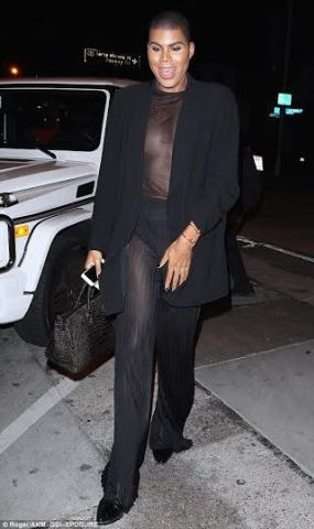 Photos: EJ Johnson Steps Out In Female And See Through Outfit